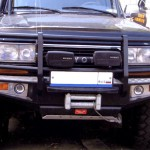 Передний силовой бампер на  Toyota Land Cruiser 80